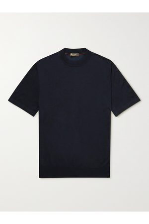 LORO PIANA Cashmere and Silk-Blend T-Shirt