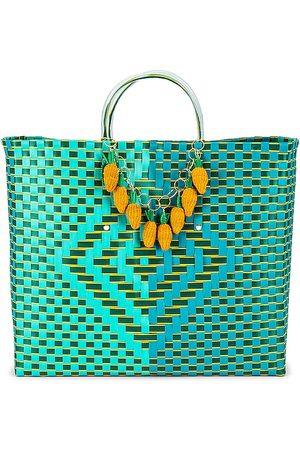 Mercedes Salazar Senhora Malotes - Zanahorias Bag in - Teal. Size all.