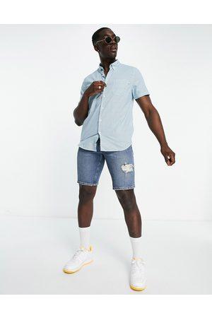 Timberland Homem Manga curta - Short sleeve pop gingham shirt-Blue