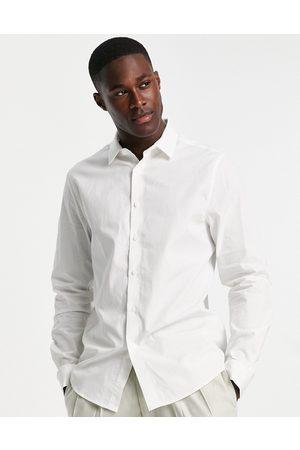 ASOS DESIGN Homem Formal - Regular fit shirt in white