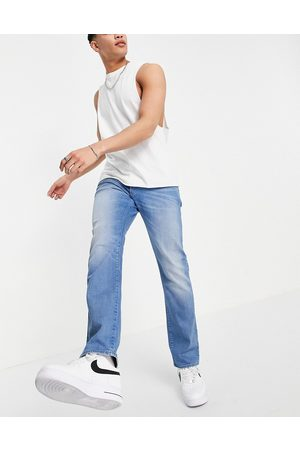 G-Star 3301 straight tapered jeans in mid wash-Blue