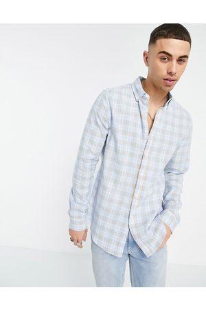 ASOS DESIGN Regular check shirt in blue
