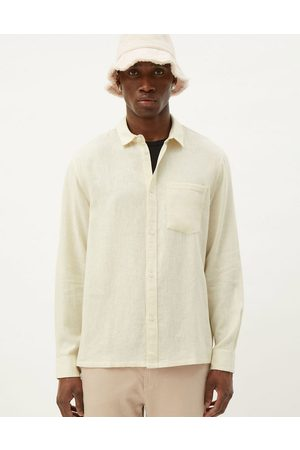 Weekday Wise linen shirt in white