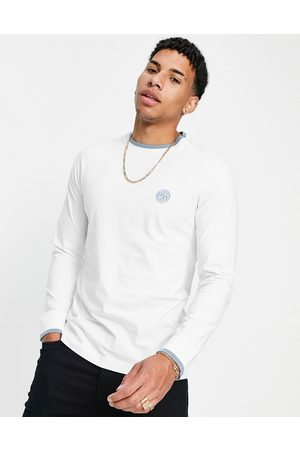 Pretty Green Long sleeve top in white