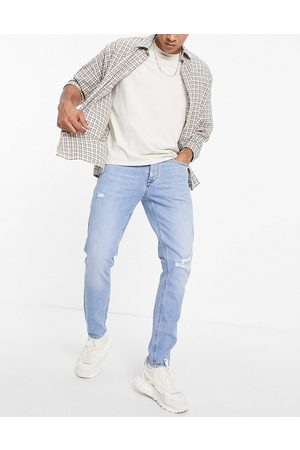 River Island Slim jeans with rips in light blue