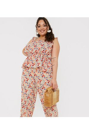 In The Style X Jac Jossa wide leg trouser co ord in multi floral print