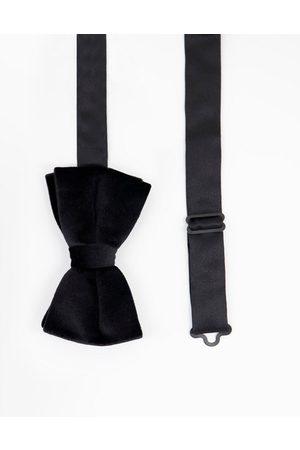 ASOS DESIGN Velvet bow tie in black