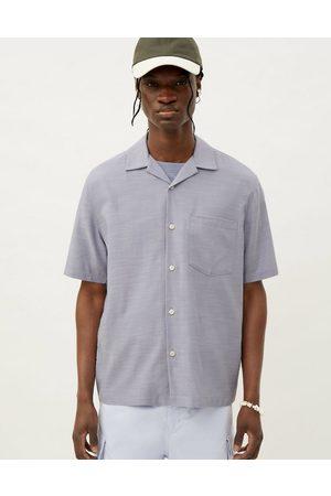 Weekday Chill short sleeve shirt in light blue