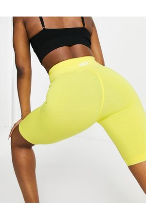 ASOS 4505 Icon booty legging short in cotton touch-Yellow