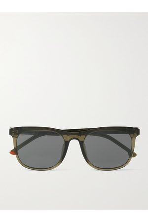 Loro Piana Traveller 53 Square-Frame Tortoiseshell Acetate Sunglasses