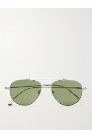 LORO PIANA Homem Óculos de Sol - Roadster 54 Aviator-Style -Tone Titanium and Acetate Polarised Sunglasses