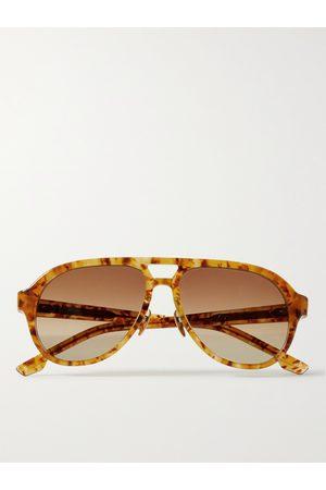 JACQUES MARIE MAGE Homem Óculos de Sol - George Cortina Aviator-Style Acetate Sunglasses