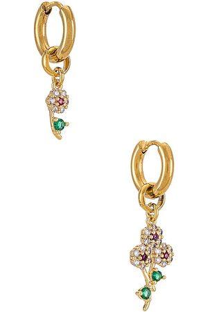 NOTTE Flower Market Earrings in - Metallic . Size all.