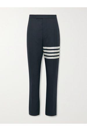 Thom Browne Homem Calças Justas - Slim-Fit Tapered Striped Wool Suit Trousers