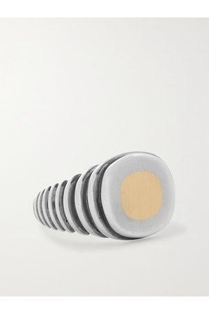 M.COHEN Homem Anéis - Grandia Lira Gold-Plated and Signet Ring