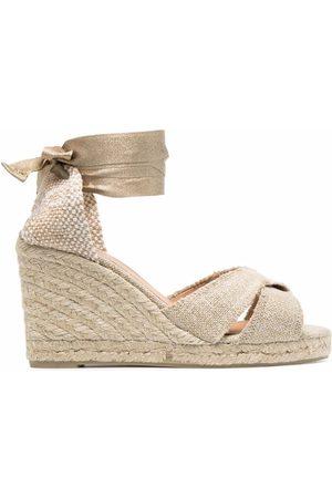 Castaner Lace-up espadrille wedge sandals