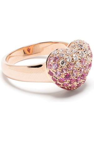 LEO PIZZO Senhora Anéis - 18kt rose gold diamond sapphire Amore ring