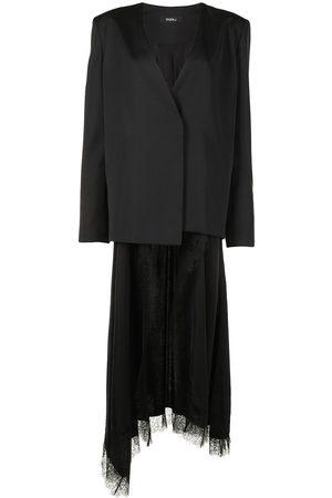 GOEN.J Senhora Blazers - Silk-wool blend wrap blazer
