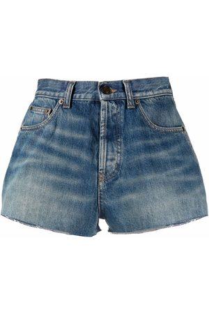 Saint Laurent High-waisted denim shorts