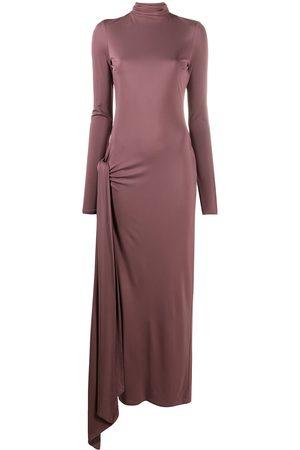 The Attico Senhora Vestidos de Festa - Fitted front slit maxi dress