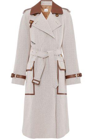 Burberry Senhora Gabardinas - Contrast-trim trench coat