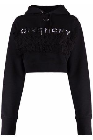 Givenchy Senhora Tops de Cavas - Logo-print drawstring hoodie