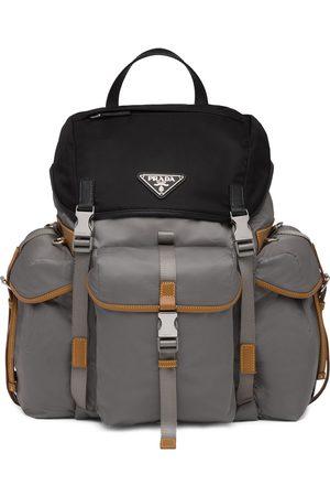 Prada Homem Mochilas - Logo plaque backpack