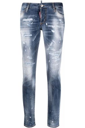 Dsquared2 Low-rise distressed-effect jeans