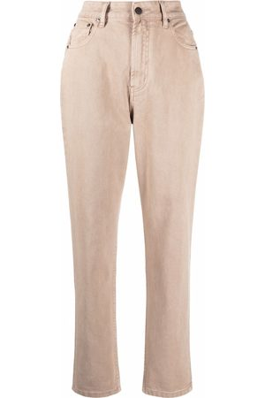 12 STOREEZ High-rise tapered jeans