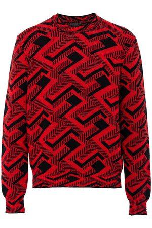 Prada Geometric intarsia jumper