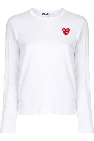 Comme des Garçons Heart-patch long-sleeve T-shirt