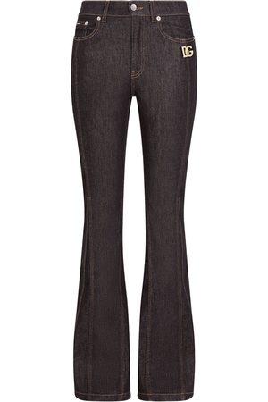 Dolce & Gabbana Logo-plaque flared jeans