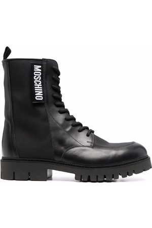 Moschino Logo-patch ankle boots