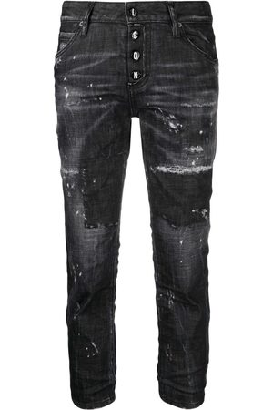 Dsquared2 Mid-rise distressed straight-leg jeans