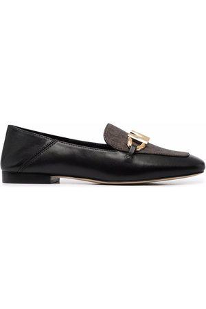 Michael Kors Senhora Oxford & Moccassins - Logo print loafers