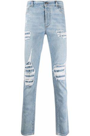 Balmain Distressed straight-leg jeans