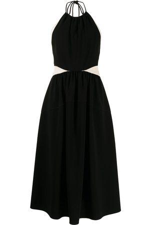 Proenza Schouler Senhora Vestidos de Festa - Panelled halterneck dress