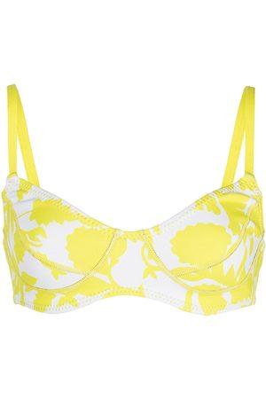 Cynthia Rowley Abstract-print bikini top