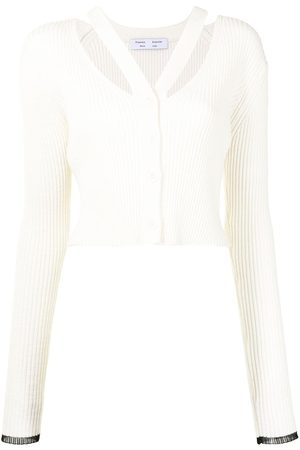 PROENZA SCHOULER WHITE LABEL Strap detail cropped cardigan