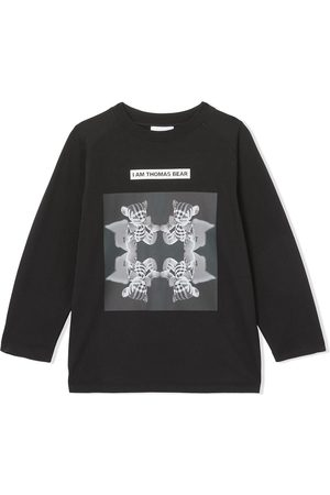 Burberry Long-sleeve Montage print top
