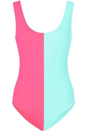 Dolce & Gabbana Two-tone open-back swimsuit