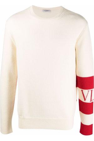 VALENTINO Homem Camisolas - Stripe-detail wool jumper