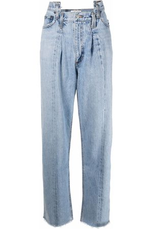 AGOLDE Pieced Angled straight-leg jeans
