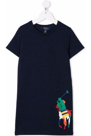 Ralph Lauren Menina Vestidos Estampados - Logo-printed T-shirt dress