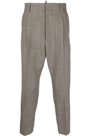 Dsquared2 Houndstooth cropped tailored trousers