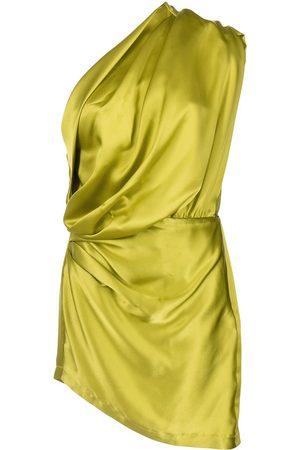 Michelle Mason Satin asymmetric mini dress