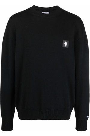 Marcelo Burlon County of Milan Cross-patch wool jumper