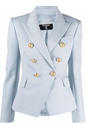 Balmain Peak lapels double-breasted blazer