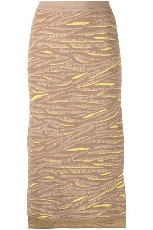 Stella McCartney Animal pattern knitted skirt