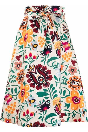 La DoubleJ Floral flared midi skirt